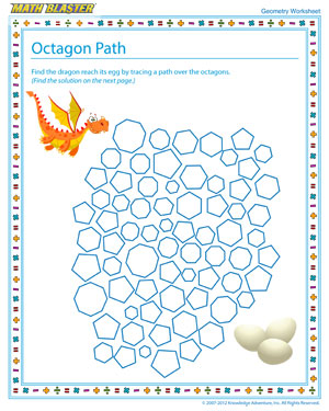 Browse through 'Octagon Path' - A Free Geometry Worksheet and Printable for Kids