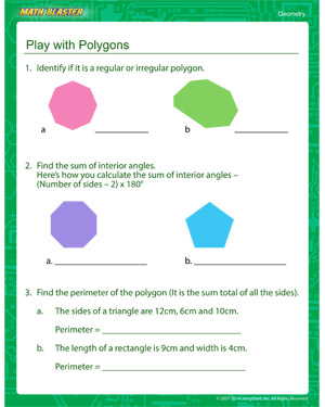 Free third grade geometry worksheet