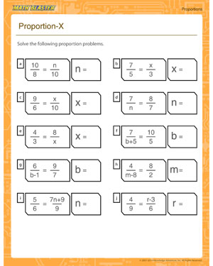 Free proportion worksheet for kids