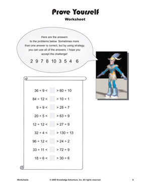 Prove Yourself - Printable Division Worksheet for Kids
