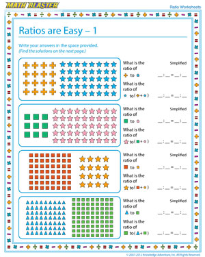 math worksheet : ratios are easy  1  free ratio worksheets online  math blaster : 6th Grade Math Ratio Worksheets