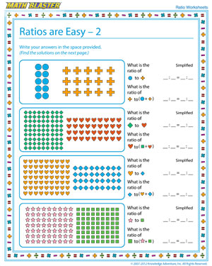 Ratios are Easy – 2 - Download Printable Ratio Worksheet