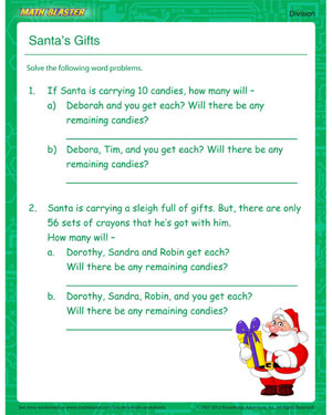 Free Division Worksheet for kids