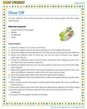 Shoe Off - Printable Graph Activity for Kids