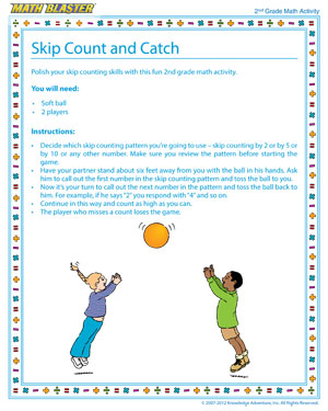 Skip Count and Catch - Printable Math Activity for Elementary