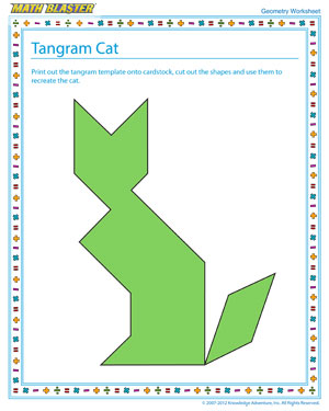 Check out this Free Geometry Printable for Kids