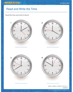 Math Worksheets » Math Worksheets For Grade 2 Telling Time - Free ...