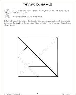 Terrific Tangrams - Printable Math Activity for Kids