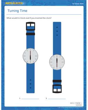 Turning Time - Printable Time Worksheet for Elementary