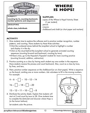 where is hops free kindergarten math activities and lesson plans