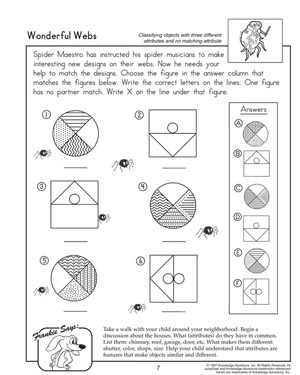 Wonderful Webs - Printable Math Worksheet for First Graders