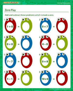 math worksheet : zero play  math printables for grade 1  math blaster : Grade 1 Printable Math Worksheets